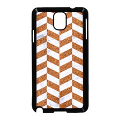 Chevron1 White Marble & Rusted Metal Samsung Galaxy Note 3 Neo Hardshell Case (black) by trendistuff