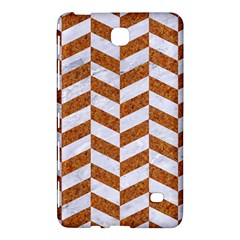 Chevron1 White Marble & Rusted Metal Samsung Galaxy Tab 4 (7 ) Hardshell Case  by trendistuff