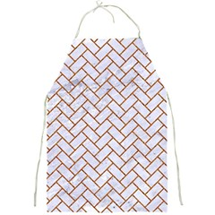 Brick2 White Marble & Rusted Metal (r) Full Print Aprons by trendistuff