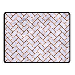 Brick2 White Marble & Rusted Metal (r) Fleece Blanket (small) by trendistuff