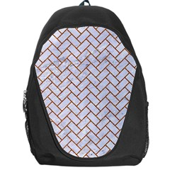 Brick2 White Marble & Rusted Metal (r) Backpack Bag by trendistuff