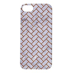 Brick2 White Marble & Rusted Metal (r) Apple Iphone 5s/ Se Hardshell Case