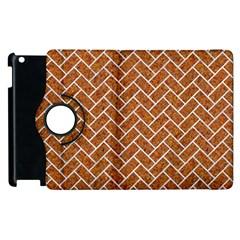 Brick2 White Marble & Rusted Metal Apple Ipad 2 Flip 360 Case by trendistuff
