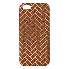 Brick2 White Marble & Rusted Metal Apple Iphone 5 Premium Hardshell Case by trendistuff