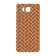 Brick2 White Marble & Rusted Metal Samsung Galaxy Alpha Hardshell Back Case by trendistuff