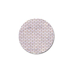 Brick1 White Marble & Rusted Metal (r) Golf Ball Marker by trendistuff