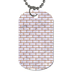 Brick1 White Marble & Rusted Metal (r) Dog Tag (two Sides) by trendistuff