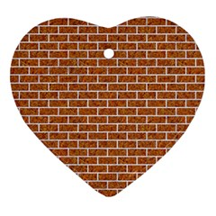 Brick1 White Marble & Rusted Metal Ornament (heart) by trendistuff