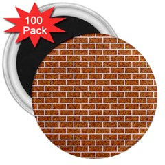 Brick1 White Marble & Rusted Metal 3  Magnets (100 Pack) by trendistuff