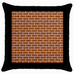 Brick1 White Marble & Rusted Metal Throw Pillow Case (black) by trendistuff