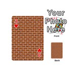 BRICK1 WHITE MARBLE & RUSTED METAL Playing Cards 54 (Mini)  Front - Heart3