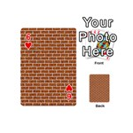 BRICK1 WHITE MARBLE & RUSTED METAL Playing Cards 54 (Mini)  Front - Heart6