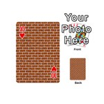 BRICK1 WHITE MARBLE & RUSTED METAL Playing Cards 54 (Mini)  Front - Heart10