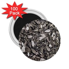 Black And White Leaves Pattern 2 25  Magnets (100 Pack)  by dflcprints