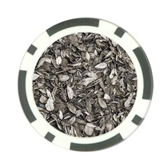 Black And White Leaves Pattern Poker Chip Card Guard (10 Pack) by dflcprints