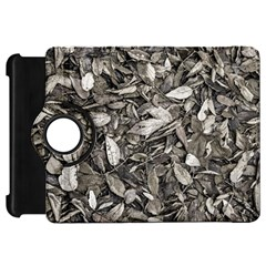 Black And White Leaves Pattern Kindle Fire Hd 7  by dflcprints