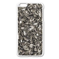 Black And White Leaves Pattern Apple Iphone 6 Plus/6s Plus Enamel White Case by dflcprints