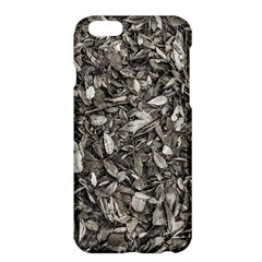 Black And White Leaves Pattern Apple Iphone 6 Plus/6s Plus Hardshell Case by dflcprints