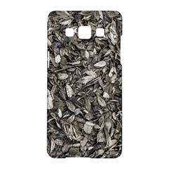 Black And White Leaves Pattern Samsung Galaxy A5 Hardshell Case  by dflcprints