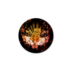 Cute Little Tiger With Flowers Golf Ball Marker (10 Pack) by FantasyWorld7
