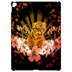 Cute Little Tiger With Flowers Apple Ipad Pro 12 9   Hardshell Case by FantasyWorld7