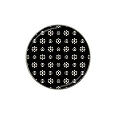 Dark Stylized Floral Pattern Hat Clip Ball Marker (10 Pack) by dflcprints