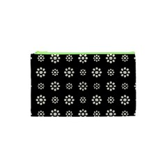 Dark Stylized Floral Pattern Cosmetic Bag (xs) by dflcprints