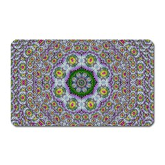 Summer Bloom In Floral Spring Time Magnet (rectangular) by pepitasart