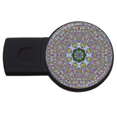Summer Bloom In Floral Spring Time Usb Flash Drive Round (2 Gb) by pepitasart