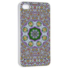 Summer Bloom In Floral Spring Time Apple Iphone 4/4s Seamless Case (white) by pepitasart