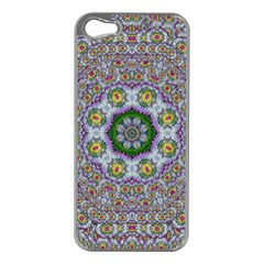 Summer Bloom In Floral Spring Time Apple Iphone 5 Case (silver) by pepitasart