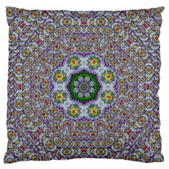 Summer Bloom In Floral Spring Time Large Flano Cushion Case (two Sides) by pepitasart