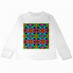 Artwork By Patrick Pattern 18 Kids Long Sleeve T Shirts