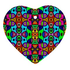 Artwork By Patrick Pattern 18 Heart Ornament (two Sides)