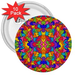Artwork By Patrick Pattern 19 3  Buttons (10 Pack)
