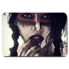 Femininely Badass Large Doormat  by sirenstore