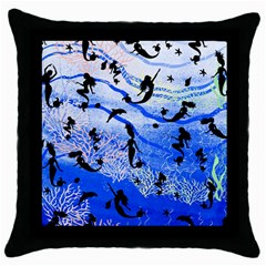 4 7 D4 Black Throw Pillow Case