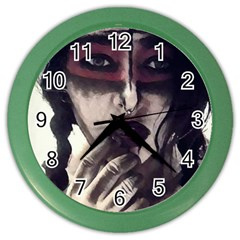 Femininely Badass Color Wall Clocks by sirenstore