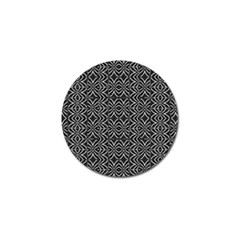 Black And White Tribal Print Golf Ball Marker by dflcprints