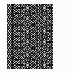 Black And White Tribal Print Large Garden Flag (two Sides) by dflcprints