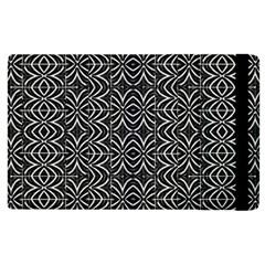 Black And White Tribal Print Apple Ipad 3/4 Flip Case