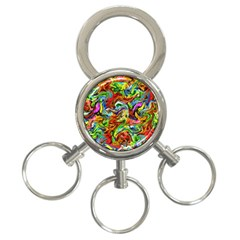 P 867 3 Ring Key Chains by ArtworkByPatrick
