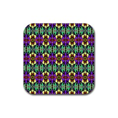 Artwork By Patrick Pattern 24 Rubber Square Coaster (4 Pack)
