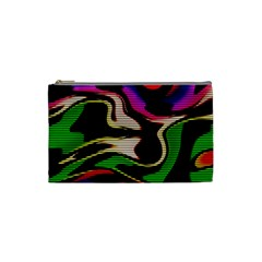 Hot Abstraction With Lines 1 Cosmetic Bag (small)  by MoreColorsinLife
