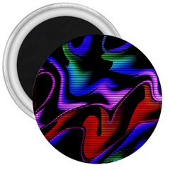Hot Abstraction With Lines 2 3  Magnets by MoreColorsinLife