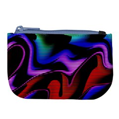 Hot Abstraction With Lines 2 Large Coin Purse by MoreColorsinLife