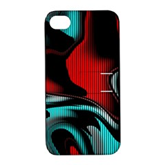 Hot Abstraction With Lines 3 Apple Iphone 4/4s Hardshell Case With Stand by MoreColorsinLife