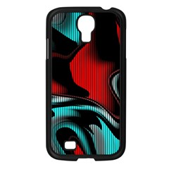 Hot Abstraction With Lines 3 Samsung Galaxy S4 I9500/ I9505 Case (black) by MoreColorsinLife
