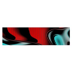 Hot Abstraction With Lines 3 Satin Scarf (oblong) by MoreColorsinLife