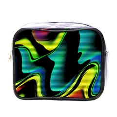 Hot Abstraction With Lines 4 Mini Toiletries Bags by MoreColorsinLife